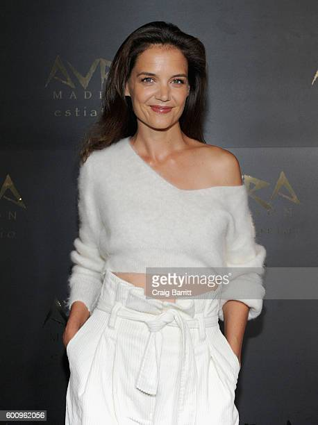 Actress Katie Holmes attends the Avra Madison grand opening party on September 8 2016 in New York City