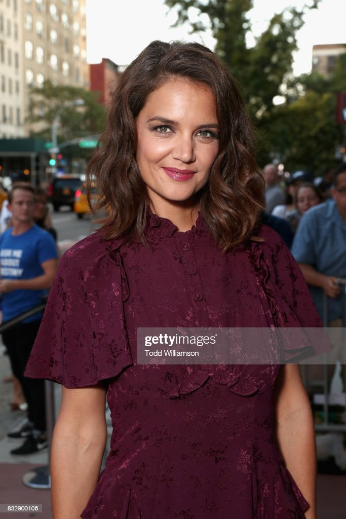 Actress Katie Holmes attends the blue carpet premiere of Amazon Prime Video original series 'The Tick' at Village East Cinema on August 16, 2017 in New York City.