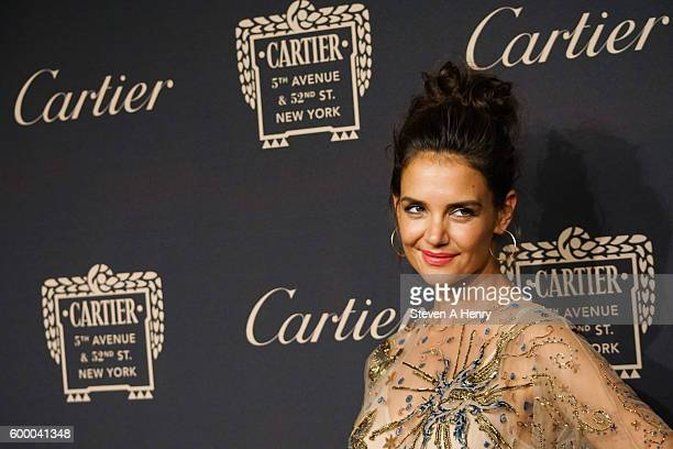 Actress Katie Holmes attends the Cartier Fifth Avenue Mansion Reopening Party at Cartier Mansion on September 7 2016 in New York City