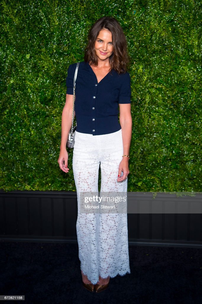Actress Katie Holmes attends the Chanel Artists Dinner during the 2017 Tribeca Film Festival on April 24, 2017 in New York City.