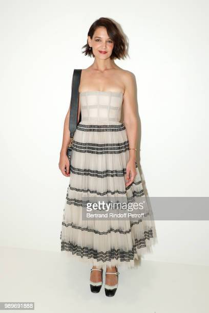 Actress Katie Holmes attends the Christian Dior Haute Couture Fall Winter 2018/2019 show as part of Paris Fashion Week on July 2 2018 in Paris France