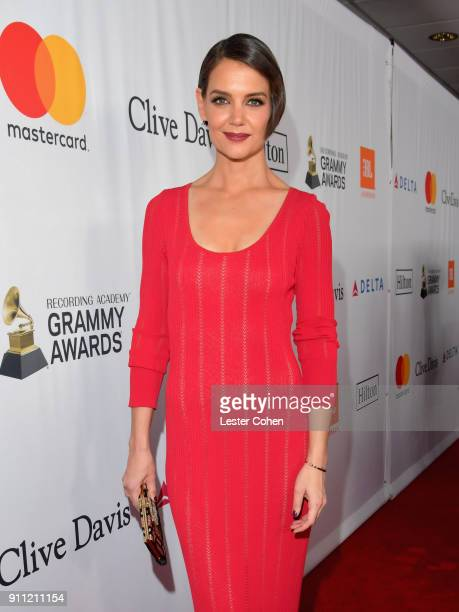 Actress Katie Holmes attends the Clive Davis and Recording Academy PreGRAMMY Gala and GRAMMY Salute to Industry Icons Honoring JayZ on January 27...