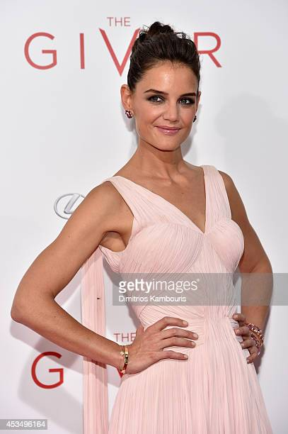 Actress Katie Holmes attends 'The Giver' premiere at Ziegfeld Theater on August 11 2014 in New York City