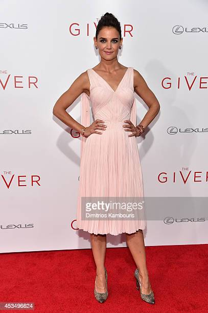 Actress Katie Holmes attends The Giver premiere at Ziegfeld Theater on August 11 2014 in New York City