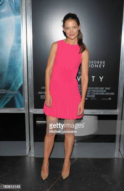 Actress Katie Holmes attends the Gravity premiere at AMC Lincoln Square Theater on October 1 2013 in New York City