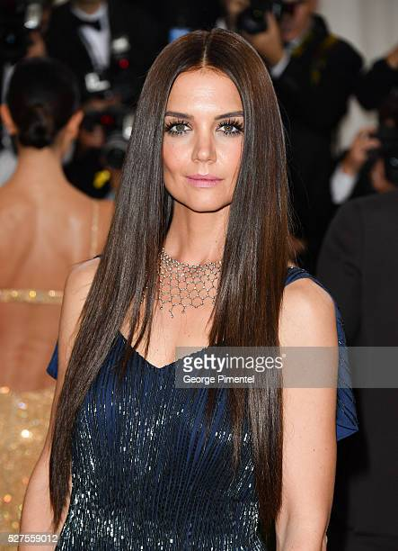 Actress Katie Holmes attends the 'Manus x Machina Fashion in an Age of Technology' Costume Institute Gala at the Metropolitan Museum of Art on May 2...