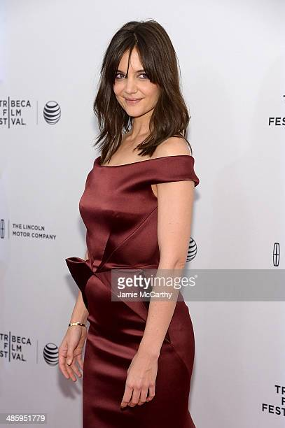Actress Katie Holmes attends the Miss Meadows Premiere during 2014 Tribeca Film Festival at the SVA Theater on April 21 2014 in New York City