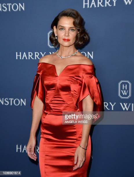 Actress Katie Holmes attends the 'New York Collection' by Harry Winston event at The Rainbow Room on September 20 2018 in New York City