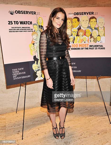 Actress Katie Holmes attends The New York Observer 25th Anniversary Party at Four Seasons Restaurant on March 14 2013 in New York City