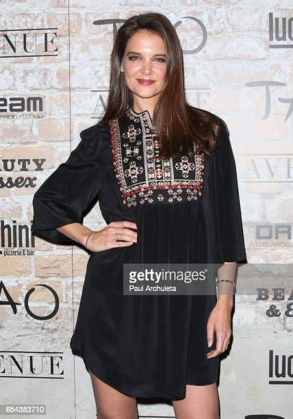Actress Katie Holmes attends the TAO Beauty and Essex Avenue and Luchini LA Grand Opening on March 16 2017 in Los Angeles California