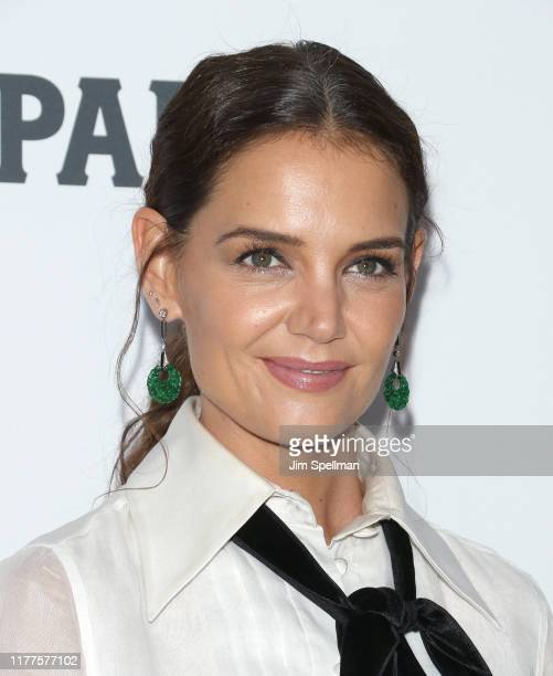 """Actress Katie Holmes attends the """"The Irishman"""" premiere during the 57th New York Film Festival at Alice Tully Hall, Lincoln Center on September 27,..."""