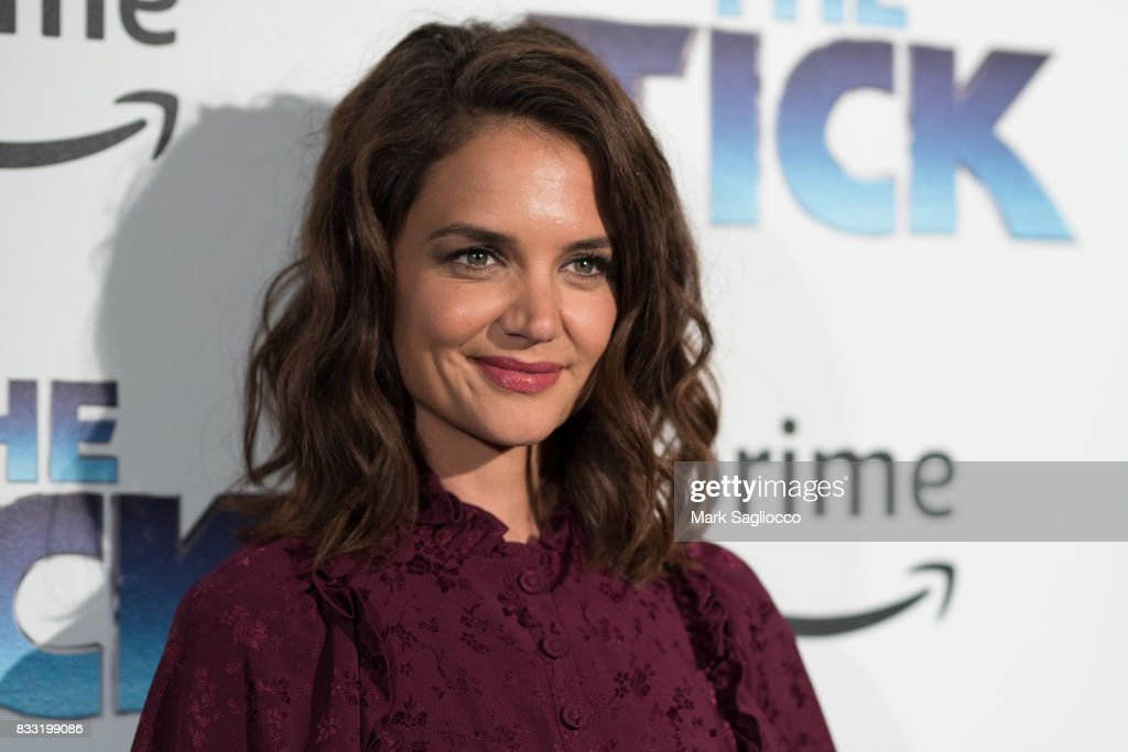 Actress Katie Holmes attends the 'The Tick' Blue Carpet Premiere at Village East Cinema on August 16, 2017 in New York City.