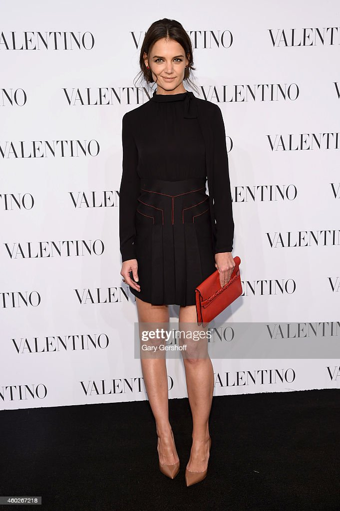 Actress Katie Holmes attends the Valentino Sala Bianca 945 Event on December 10, 2014 in New York City.