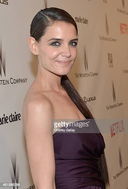 Actress Katie Holmes attends The Weinstein Company Netflix's 2015 Golden Globes After Party presented by FIJI Water Lexus Laura Mercier and Marie...
