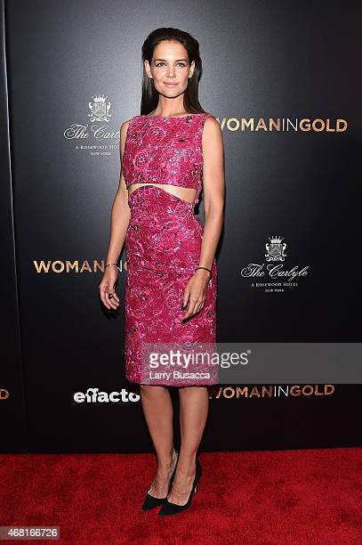 Actress Katie Holmes attends the Woman In Gold New York premiere at Museum of Modern Art on March 30 2015 in New York City