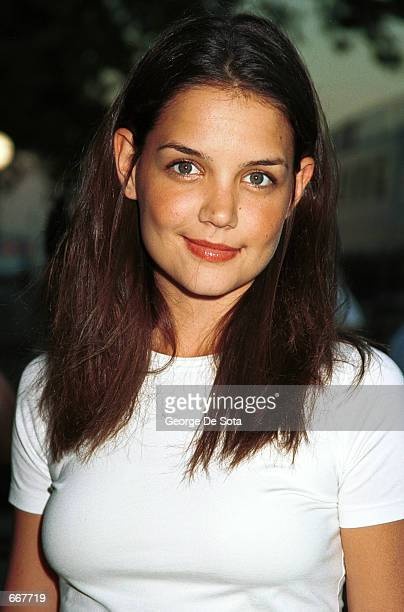 Actress Katie Holmes attends the World Premiere of the Twentieth Century Fox Film 'XMEN' July 12 at Ellis Island New York