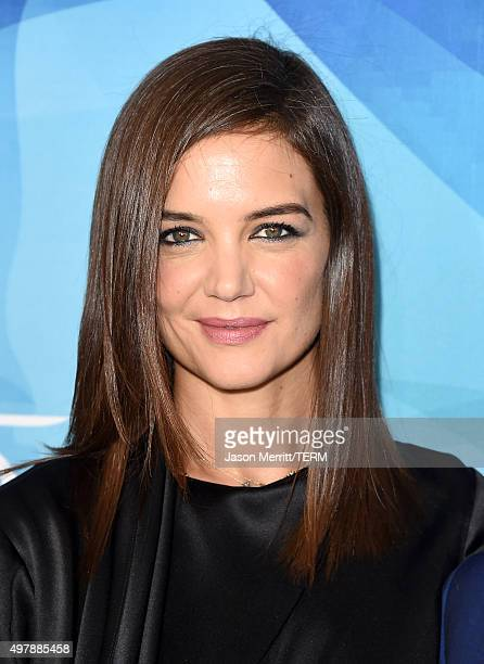 Actress Katie Holmes attends the WWD And Variety inaugural stylemakers' event at Smashbox Studios on November 19 2015 in Culver City California