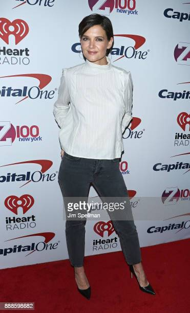 Actress Katie Holmes attends the Z100's iHeartRadio Jingle Ball 2017 at Madison Square Garden on December 8 2017 in New York City