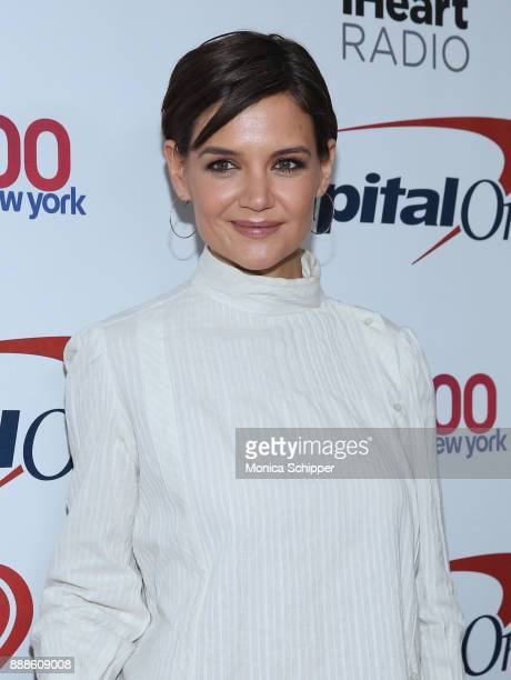 Actress Katie Holmes attends the Z100's Jingle Ball 2017 press room on December 8 2017 in New York City
