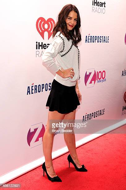 Actress Katie Holmes attends Z100's Jingle Ball 2013 presented by Aeropostale at Madison Square Garden on December 13 2013 in New York City