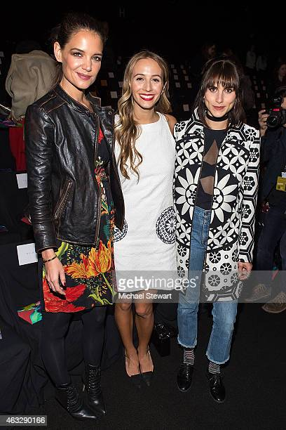 Actress Katie Holmes, DJ Harley Viera-Newton, Langley Fox Hemingway attend Desigual show during Mercedes-Benz Fashion Week Fall 2015 at The Theatre...