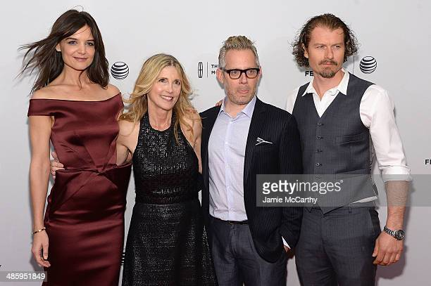 Actress Katie Holmes filmmaker Karen Leigh Hopkins producer Rob Carliner and actor James Badge Dale attend the Miss Meadows Premiere during 2014...