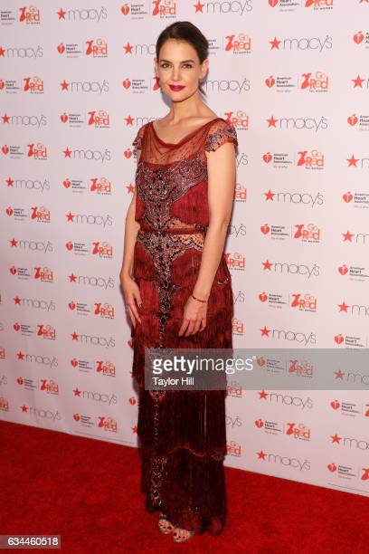 Actress Katie Holmes hosts the Go Red for Women fashion show during Fall 2017 New York Fashion Week at Hammerstein Ballroom on February 9 2017 in New...