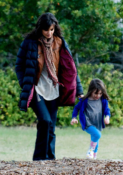 Katie holmes sighting in melbourne photos and images getty images actress katie holmes is playing with her daughter suri cruise on the set of her new thecheapjerseys Gallery