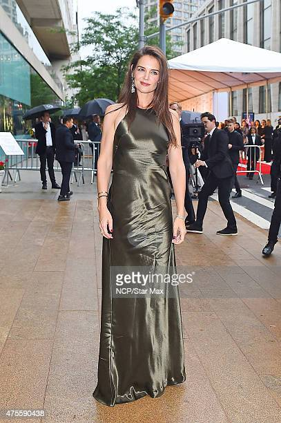 Actress Katie Holmes is seen at The 2015 CFDA Fashion Awards on June 1 2015 in New York City