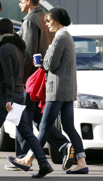 Katie holmes sighting in melbourne photos and images getty images actress katie holmes is seen filming on the set of her new horror film don thecheapjerseys Gallery