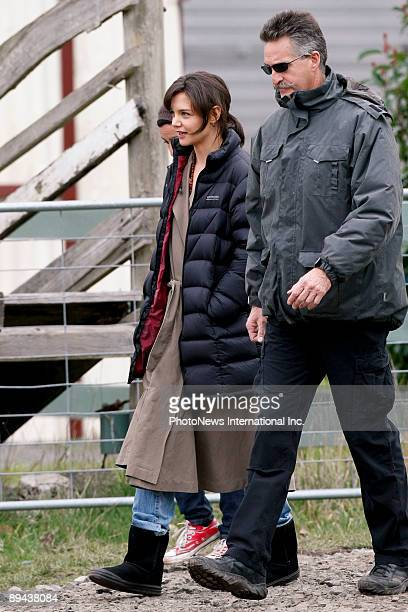 Actress Katie Holmes is seen filming on the set of her new horror film 'Don't Be Afraid Of The Dark' at Mount Macedon on July 29 2009 in Melbourne...