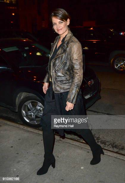Actress Katie Holmes is seen in Soho on January 25 2018 in New York City