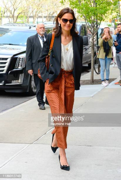 Actress Katie Holmes is seen walking in soho on April 25 2019 in New York City