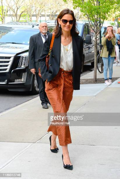 Actress Katie Holmes is seen walking in soho on April 25, 2019 in New York City.
