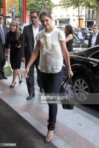 Actress Katie Holmes is sighted as she arrives at her hotel on July 5 2011 in Paris France