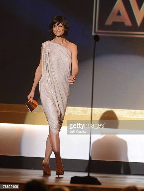 Actress Katie Holmes onstage at the 13th ANNUAL CRITICS' CHOICE AWARDS at the Santa Monica Civic Auditorium on January 7, 2008 in Santa Monica,...