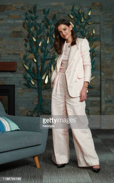 SYDNEY NSW Actress Katie Holmes poses during a photo shoot at Ronald McDonald House in Sydney New South Wales