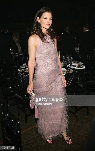 Actress Katie Holmes poses for a photo at The Black Ball presented by Conde Nast Media Group and hosted by Alicia Keys and Iman to benefit Keep A...