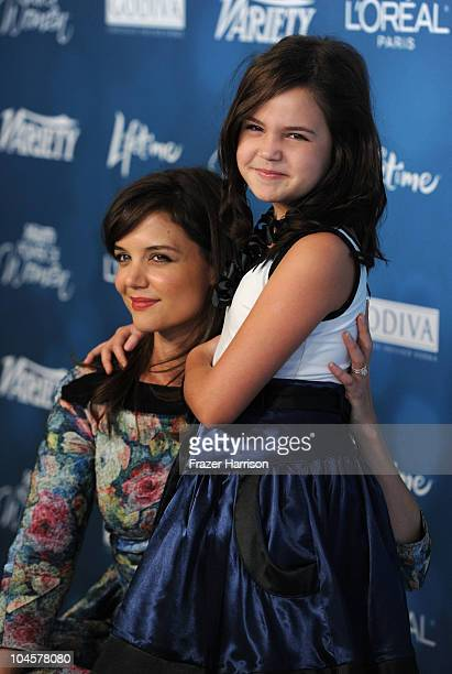 Actress Katie Holmes poses with Bailee Madison at the Variety's 2nd Annual Power Of Women Luncheon at the Beverly Hills Hotel on September 30 2010 in...