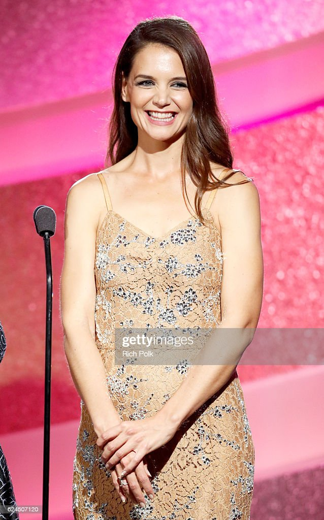 Actress Katie Holmes speaks onstage during the Marie Claire Young Women's Honors presented by Clinique at Marina del Rey Marriott on November 19, 2016 in Marina del Rey, California.