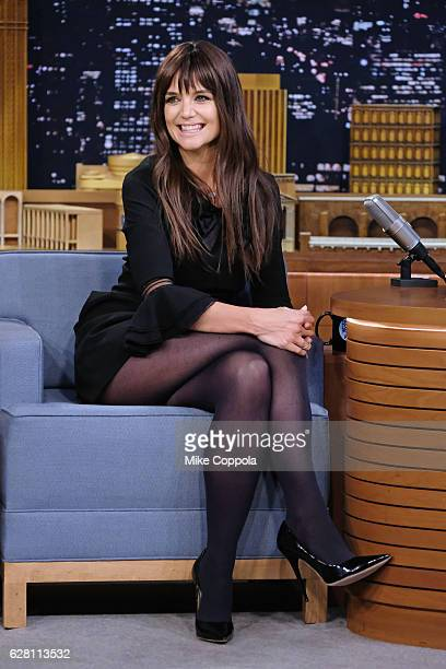 Actress Katie Holmes visits 'The Tonight Show Starring Jimmy Fallon' at Rockefeller Center on December 6 2016 in New York City