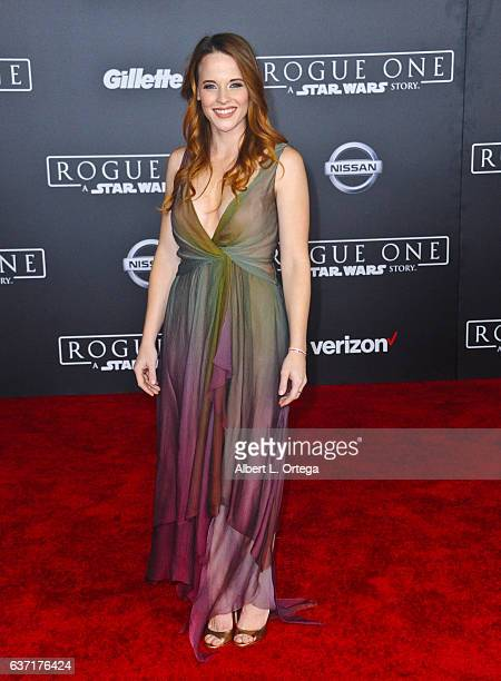 Actress Katie Leclerc arrives for the Premiere Of Walt Disney Pictures And Lucasfilm's 'Rogue One A Star Wars Story' held at the Pantages Theatre on...