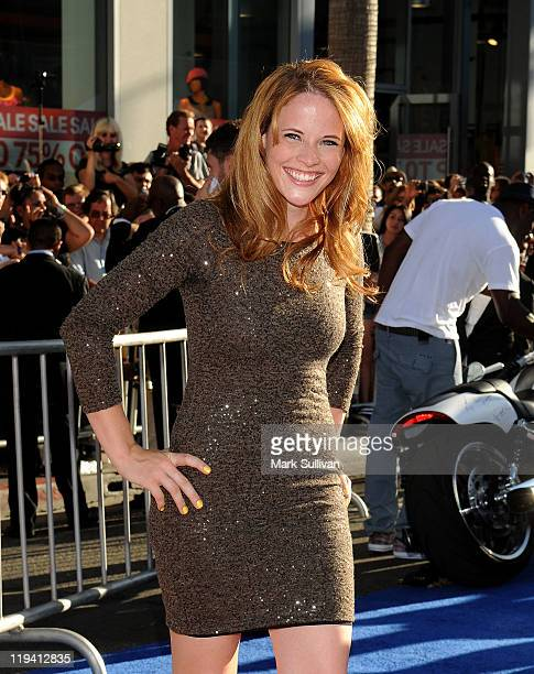 Actress Katie Leclerc attends the Los Angeles Premiere of Captain America The First Avenger at the El Capitan Theatre on July 19 2011 in Hollywood...