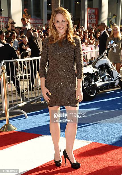 Actress Katie Leclerc attends the premiere of Captain America The First Avenger at the El Capitan Theatre on July 19 2011 in Hollywood California