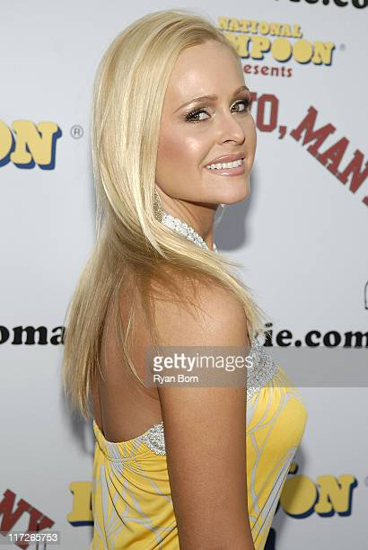 Actress Katie Lohmann arrives at National Lampoon's Premier of One Two Many at the Arclight Hollywood theatre on April 10 2008 in Los Angeles...
