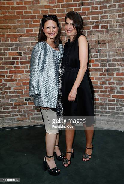 Actress Katie Lowes and Dorothee Schumacher attend the Schumacher show during the MercedesBenz Fashion Week Spring/Summer 2015 at Sankt Elisabeth...