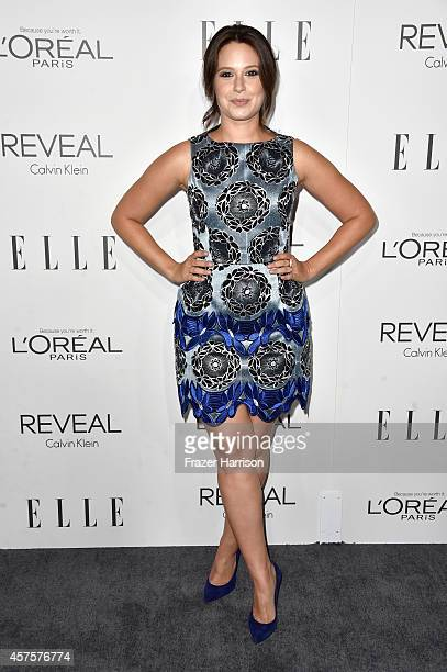 Actress Katie Lowes arrives at ELLE's 21st Annual Women In Hollywood at Four Seasons Hotel Los Angeles at Beverly Hills on October 20 2014 in Beverly...