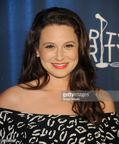 Actress Katie Lowes arrives at Hilarity For Charity's 4th Annual Variety Show at Hollywood Palladium on October 17 2015 in Los Angeles California