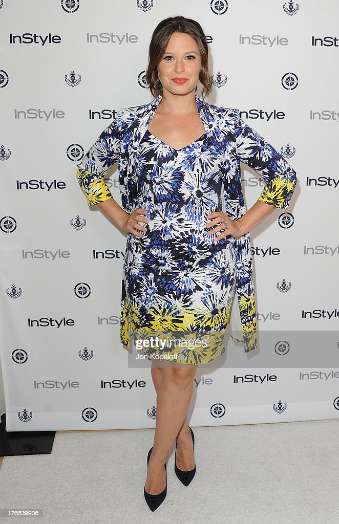 Actress Katie Lowes arrives at the 13th Annual InStyle Summer Soiree at Mondrian Los Angeles on August 14, 2013 in West Hollywood, California.