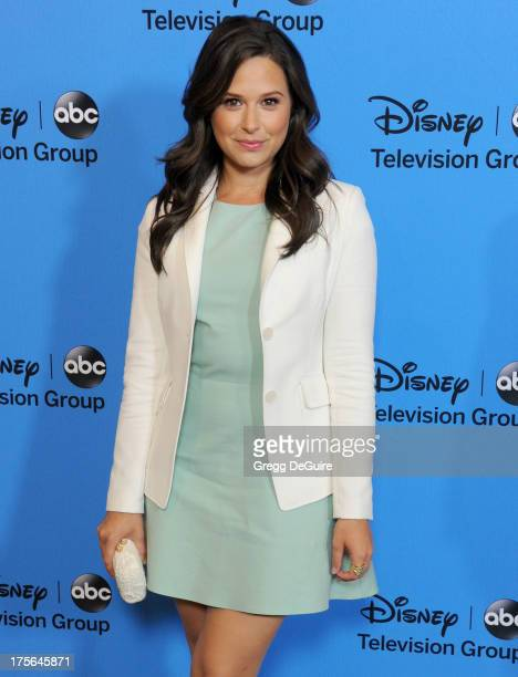 Actress Katie Lowes arrives at the 2013 Disney/ABC Television Critics Association's summer press tour party at The Beverly Hilton Hotel on August 4...